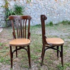 Vintage: PAREJA DE ANTIGUAS SILLAS DE CAFÉ O BISTRO. Lote 221626118
