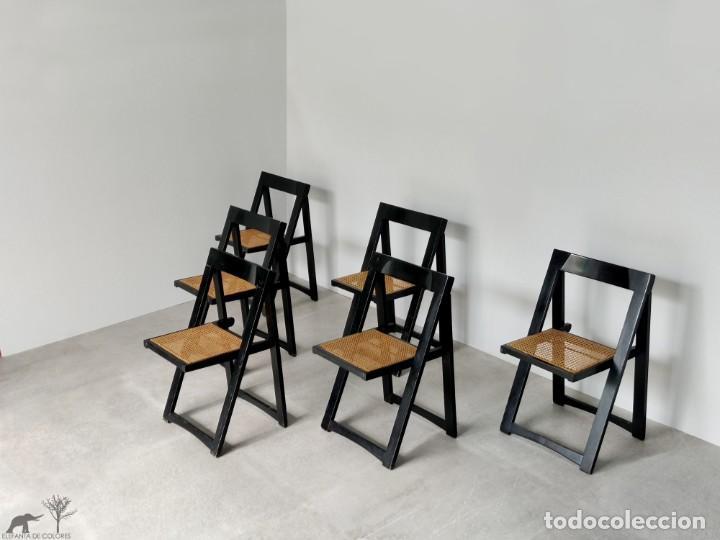 Vintage: Juego de 6 sillas plegables by Aldo Jacober, 1960s - Foto 3 - 221942891