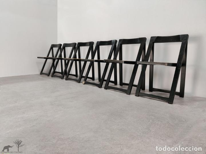Vintage: Juego de 6 sillas plegables by Aldo Jacober, 1960s - Foto 4 - 221942891