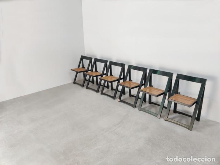 Vintage: Juego de 6 sillas plegables by Aldo Jacober, 1960s - Foto 7 - 221942891