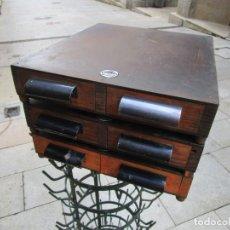 Vintage: VINTAJE - LOTE 3 CAJONERAS CLASIFICADORAS DE LOS 50'S, REPUESTOS UTILLAJE ETC 38X31X6CM CADA,+ INFO. Lote 222114228