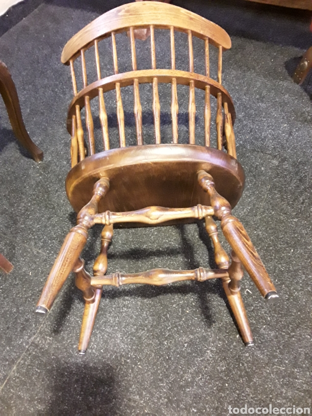 Vintage: Sillón, butaca de madera - Foto 5 - 222456992