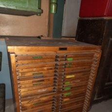 Vintage: MUEBLE DE CAJONES CHIVALETE IMPRENTA. Lote 223896361