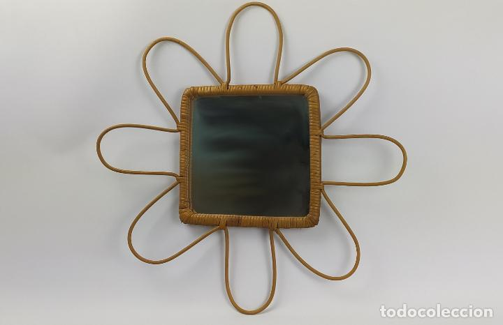 Vintage: Espejo vintage en caña y ratán. - Foto 3 - 226135910