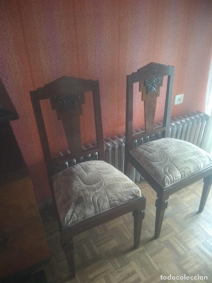 LOTE DE 6 SILLAS ART DECO (Vintage - Muebles)