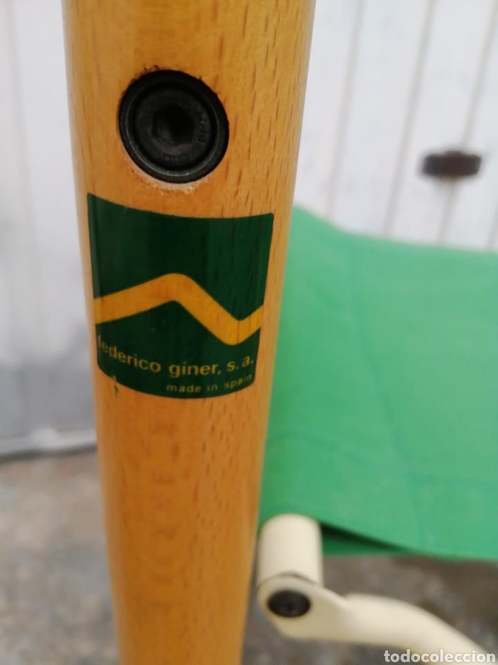 Vintage: Silla plegable diseño Federico Giner vintage España años 60 tipo director madera metal y tela - Foto 5 - 226991460