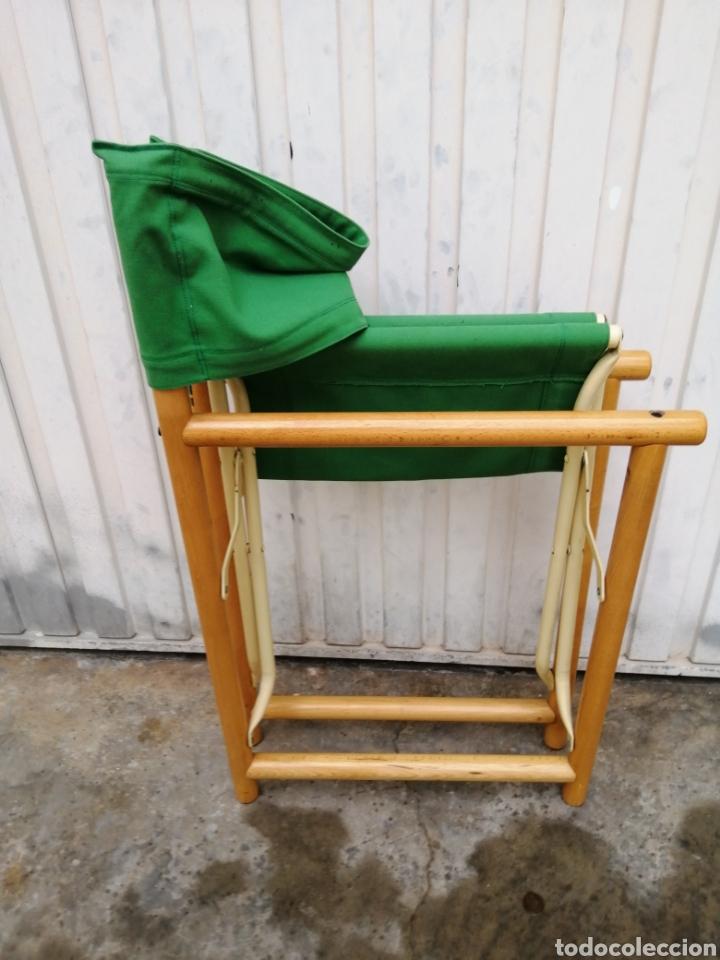 Vintage: Silla plegable diseño Federico Giner vintage España años 60 tipo director madera metal y tela - Foto 6 - 226991460