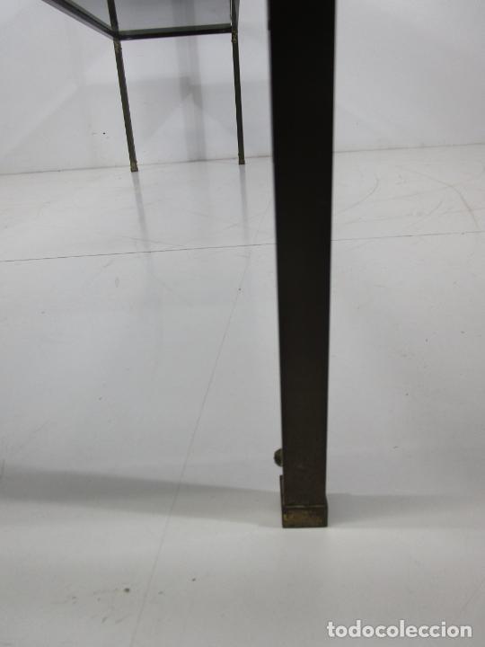 Vintage: Bonita Mesa, Consola - Latón - Cristal Oscurecido - Vintage - Ancho - 150 cm, Fondo - 38 cm - Foto 13 - 228447850