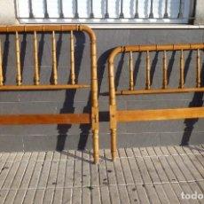 Vintage: L - 2.CABECERO Y PIECERO DE MADERA PARA CAMA DE 90 CM.. Lote 229777440