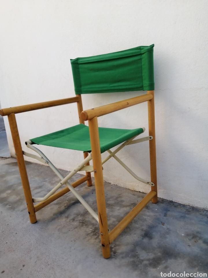 Vintage: Silla plegable diseño Federico Giner vintage España años 60 tipo director madera metal y tela - Foto 3 - 226991460