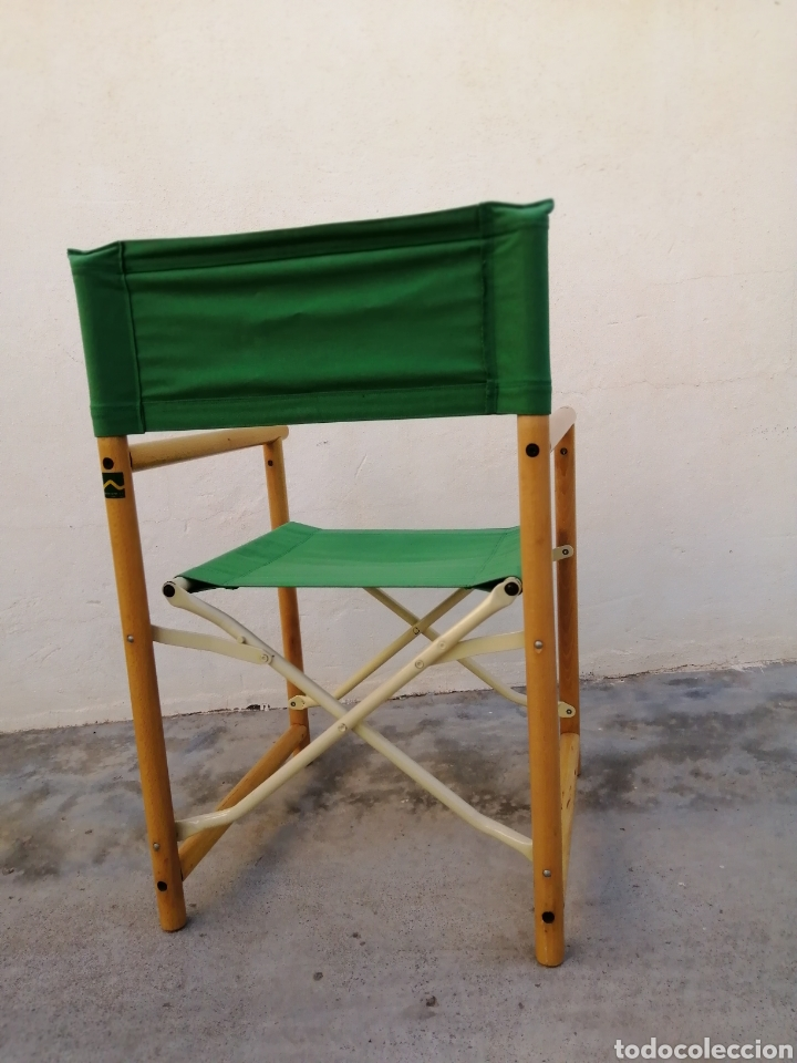 Vintage: Silla plegable diseño Federico Giner vintage España años 60 tipo director madera metal y tela - Foto 4 - 226991460