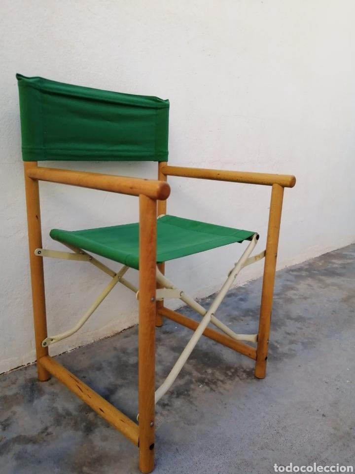 Vintage: Silla plegable diseño Federico Giner vintage España años 60 tipo director madera metal y tela - Foto 2 - 226991460
