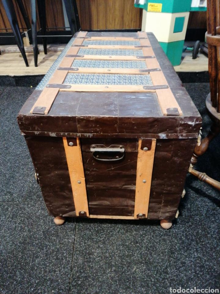 Vintage: Baúl madera y chapa - Foto 2 - 231499725