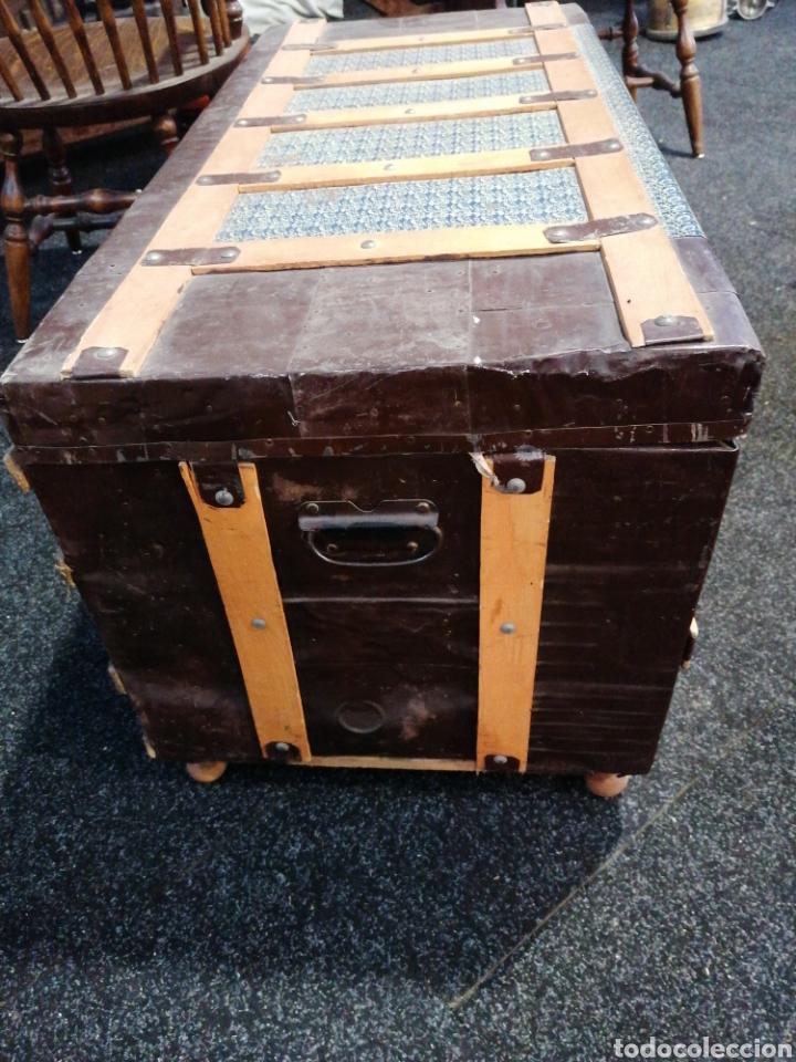 Vintage: Baúl madera y chapa - Foto 3 - 231499725