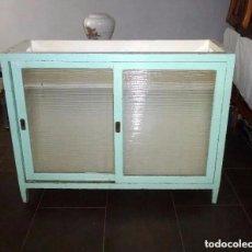 Vintage: ANTIGUO MOSTRADOR DE TIENDA,MADERA Y CRISTAL. 100 X 130 X 50 CM.. Lote 234688775