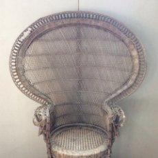Vintage: SILLON DE MIMBRE TIPO EMANUEL A RESTAURAR. Lote 237771265