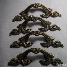 Vintage: CUATRO TIRADORES DORADOS DE METAL.. Lote 237994825