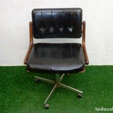 Vintage: SILLA DE DESPACHO GIRATORIA,TAPICERIA PARA RESTAURAR.. Lote 238054045
