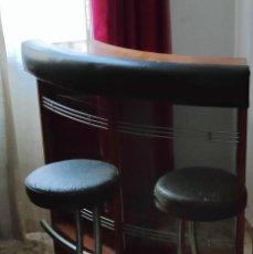 Vintage: MUEBLE BAR, CON BARRA Y DOS SILLAS. Lote 242886605