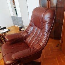 Vintage: SILLÓN RECLINABLE CUERO. Lote 243386990