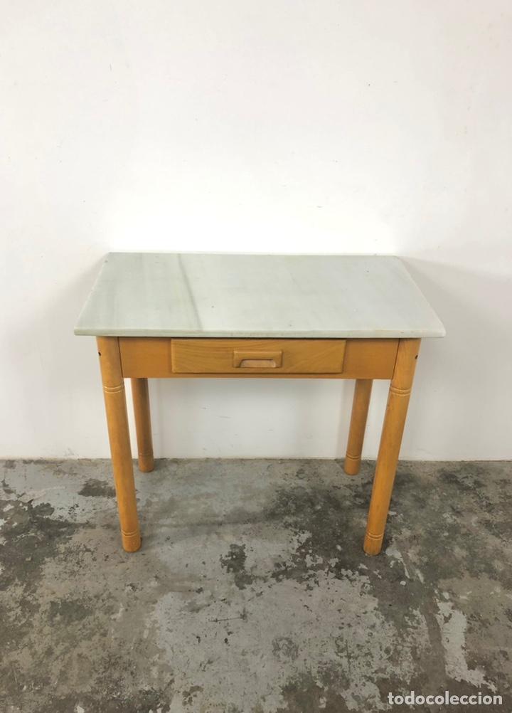 Vintage: Mesa auxiliar o escritorio vintage - Foto 5 - 243603125