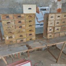 Vintage: LOTE DE 2 ARMARIOS ANTIGUOS INDUSTRIAL PARA RESTAURAR. Lote 243843960