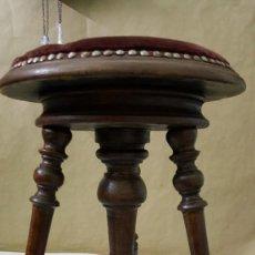 Vintage: TABURETE DE PIANO. Lote 244526685