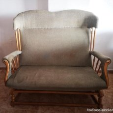 Vintage: SOFÁ EN MADERA DE HAYA Y TAPIZADO. Lote 248235290