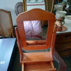 Vintage: ESPEJO ORIENTABLE CON CAJÓN.. Lote 249333595