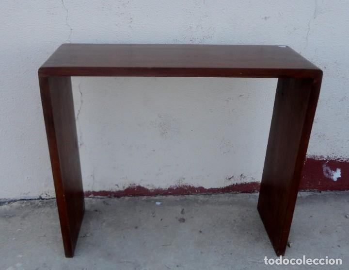 CONSOLA MINIMALISTA EN MADERA DE PALISANDRO (Vintage - Muebles)
