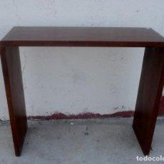 Vintage: CONSOLA MINIMALISTA EN MADERA DE PALISANDRO. Lote 253320935