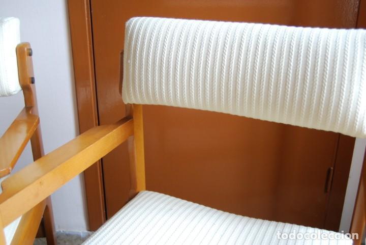 Vintage: sillas color haya tapizado en beige - Foto 2 - 253552945