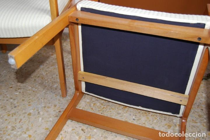 Vintage: sillas color haya tapizado en beige - Foto 3 - 253552945