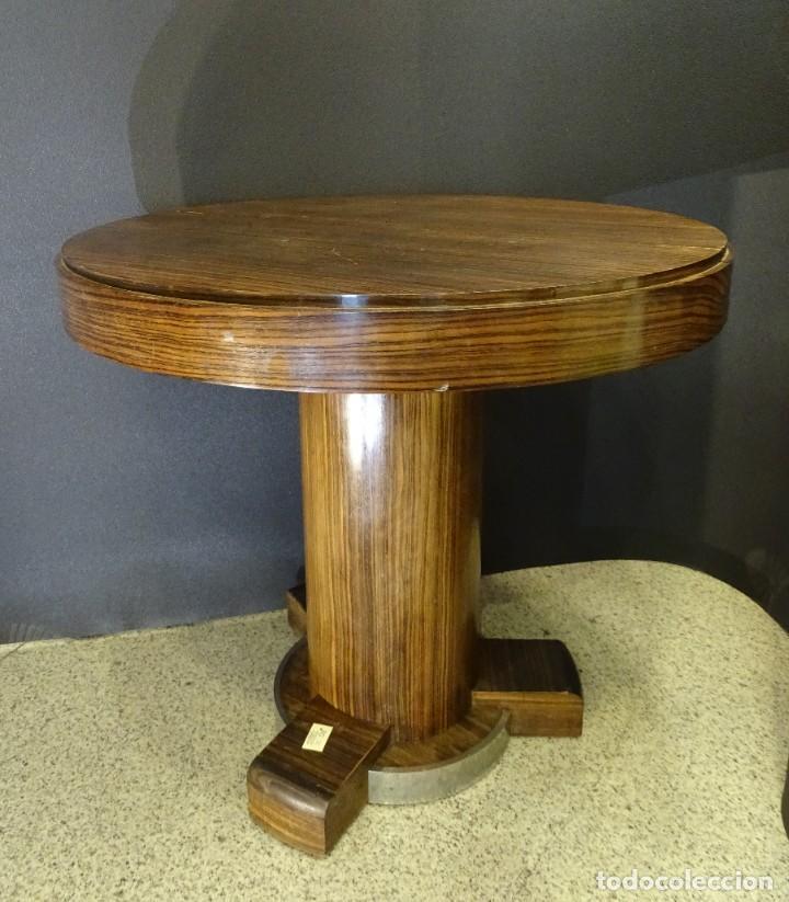 Vintage: Mesa gueridón Art Decó en madera de palosanto, Francia - Foto 3 - 254148115