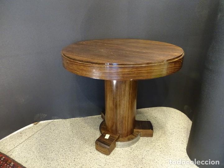 Vintage: Mesa gueridón Art Decó en madera de palosanto, Francia - Foto 4 - 254148115