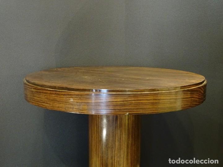 Vintage: Mesa gueridón Art Decó en madera de palosanto, Francia - Foto 5 - 254148115