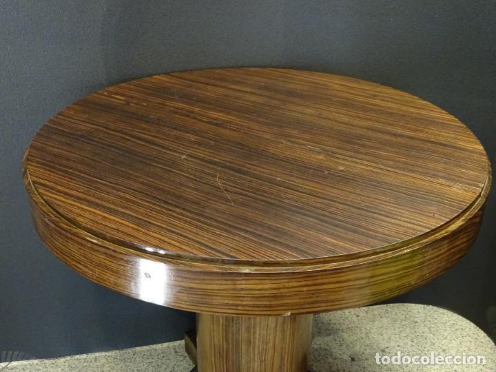 Vintage: Mesa gueridón Art Decó en madera de palosanto, Francia - Foto 6 - 254148115