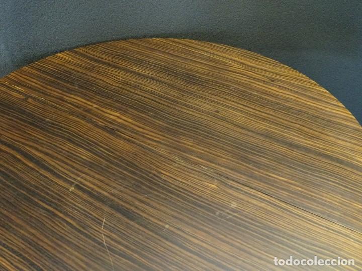 Vintage: Mesa gueridón Art Decó en madera de palosanto, Francia - Foto 7 - 254148115