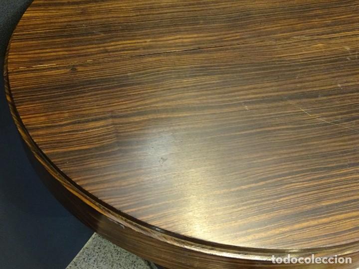 Vintage: Mesa gueridón Art Decó en madera de palosanto, Francia - Foto 8 - 254148115