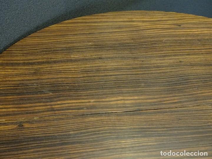 Vintage: Mesa gueridón Art Decó en madera de palosanto, Francia - Foto 9 - 254148115