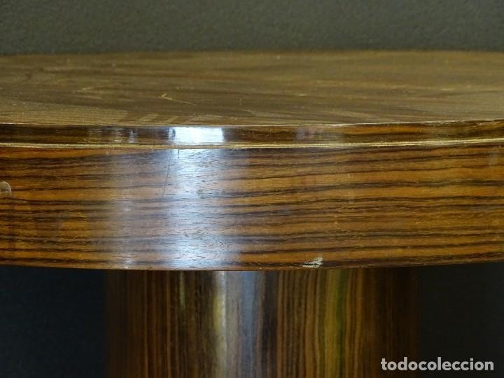 Vintage: Mesa gueridón Art Decó en madera de palosanto, Francia - Foto 10 - 254148115