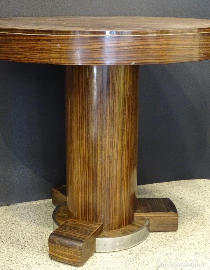 Vintage: Mesa gueridón Art Decó en madera de palosanto, Francia - Foto 11 - 254148115