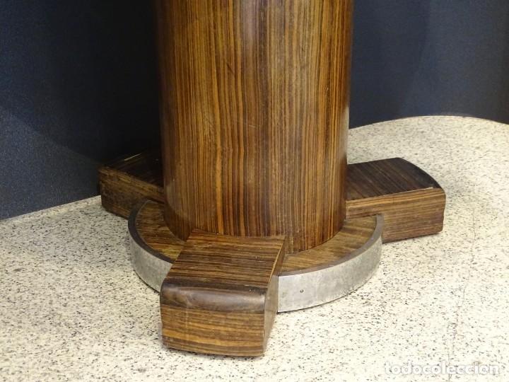 Vintage: Mesa gueridón Art Decó en madera de palosanto, Francia - Foto 12 - 254148115