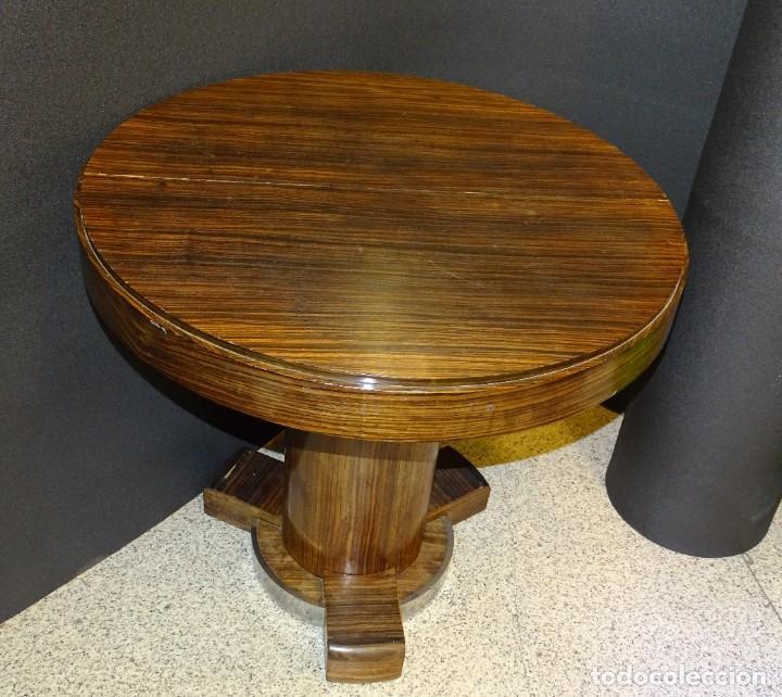 Vintage: Mesa gueridón Art Decó en madera de palosanto, Francia - Foto 14 - 254148115