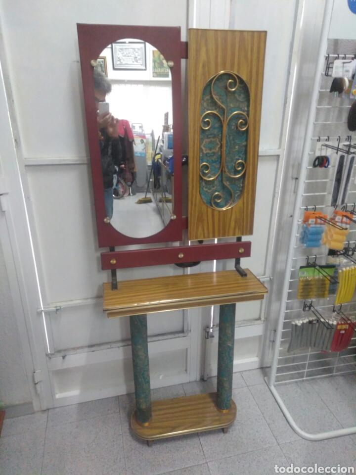 Vintage: Antiguo mueble de entrada - Foto 2 - 257323200
