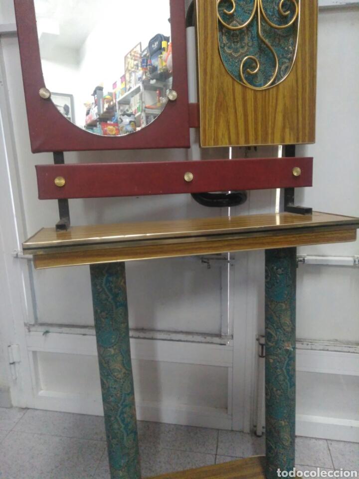 Vintage: Antiguo mueble de entrada - Foto 5 - 257323200