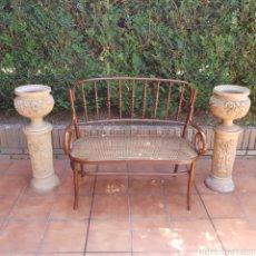 Vintage: BANCO DE MADERA THONET ( REJILLA ). Lote 261788930