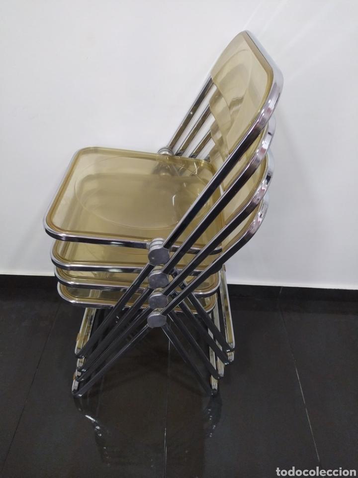Vintage: Sillas diseño Plia originales, Anonima Castelli con marca de atribución - Foto 2 - 263177460