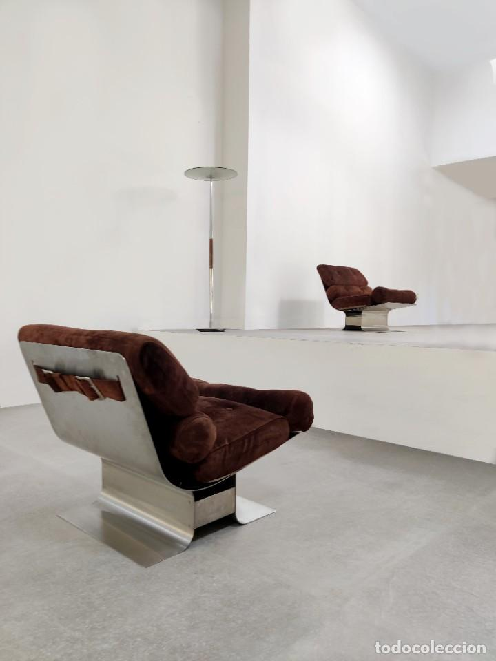 Vintage: Pareja de sillones Lounge Chairs por François Monnet para Kappa, 1970s - Foto 2 - 263642520