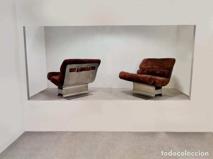 Vintage: Pareja de sillones Lounge Chairs por François Monnet para Kappa, 1970s - Foto 7 - 263642520